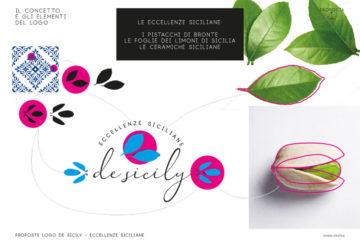 Logo design - desicily - concetti ed elementi del logo