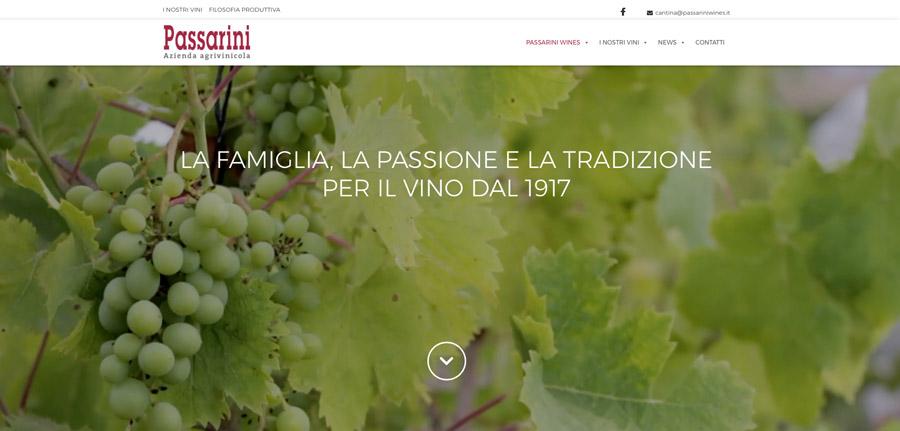 Sito internet responsive per la cantina Passarini Wines