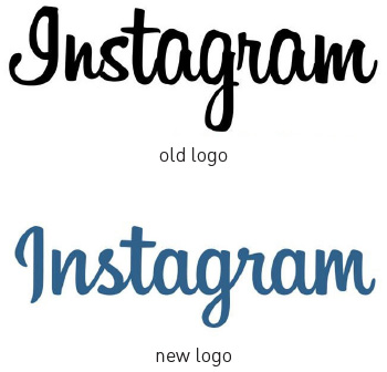 Instagram logo lettering restyling, progettato da Mackey Saturday.