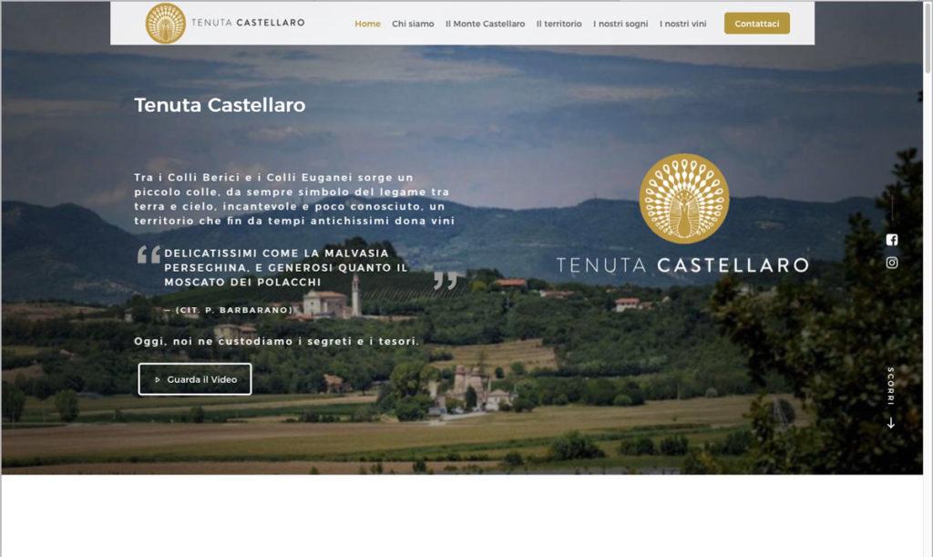 Sito internet onepage per Tenuta Castellaro